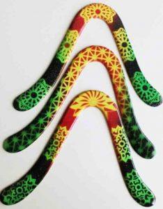 boomerang en bois americain