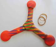 Les élastiques sont le moyen le plus simple pour modifier le vol de votre boomerang.
