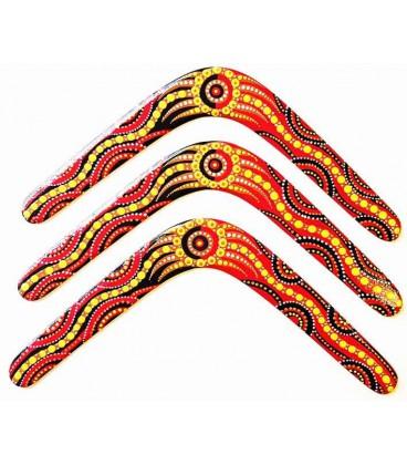 Boomerang traditionnel australien kangourou